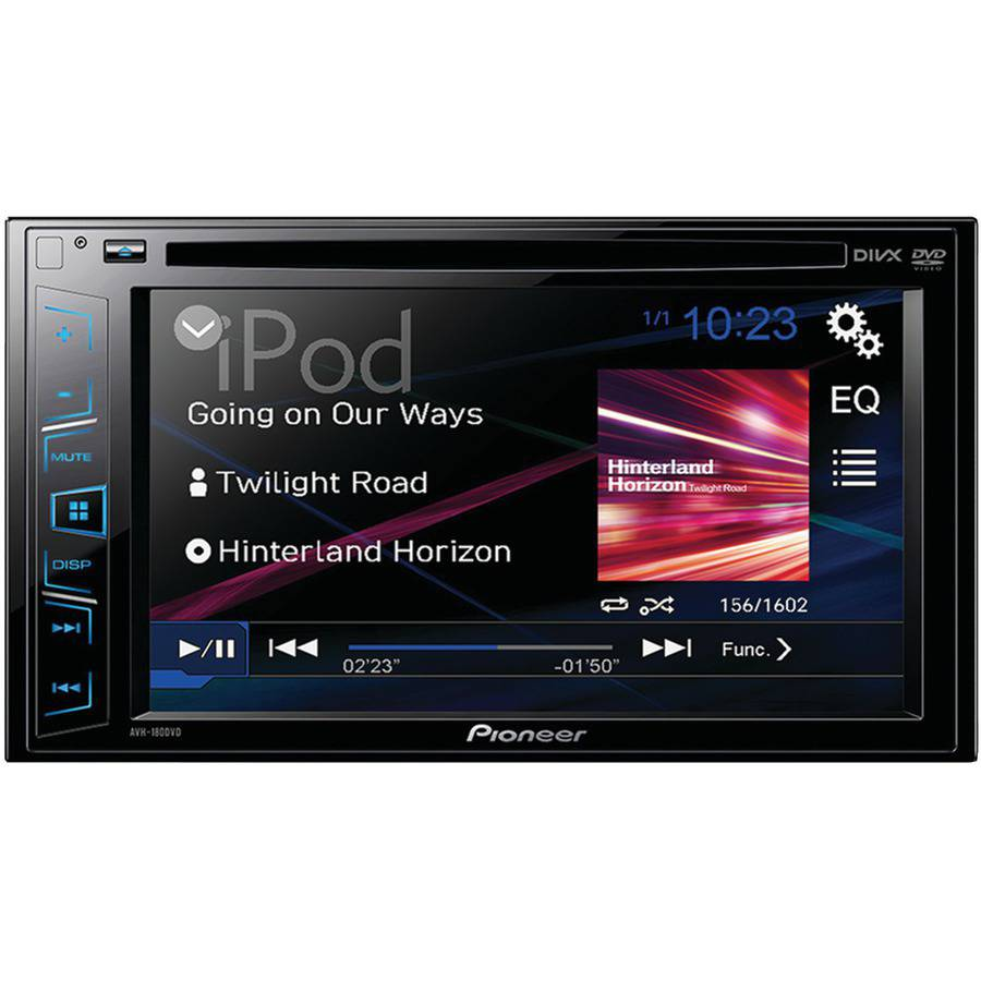 "Pioneer Avh-180dvd 6.2"" Double-DIN In-Dash DVD Receiver"