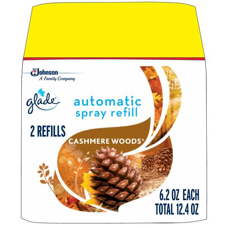Glade Automatic Spray Air Freshener Refill, Cashmere Woods , 2 refills, 12.4 oz