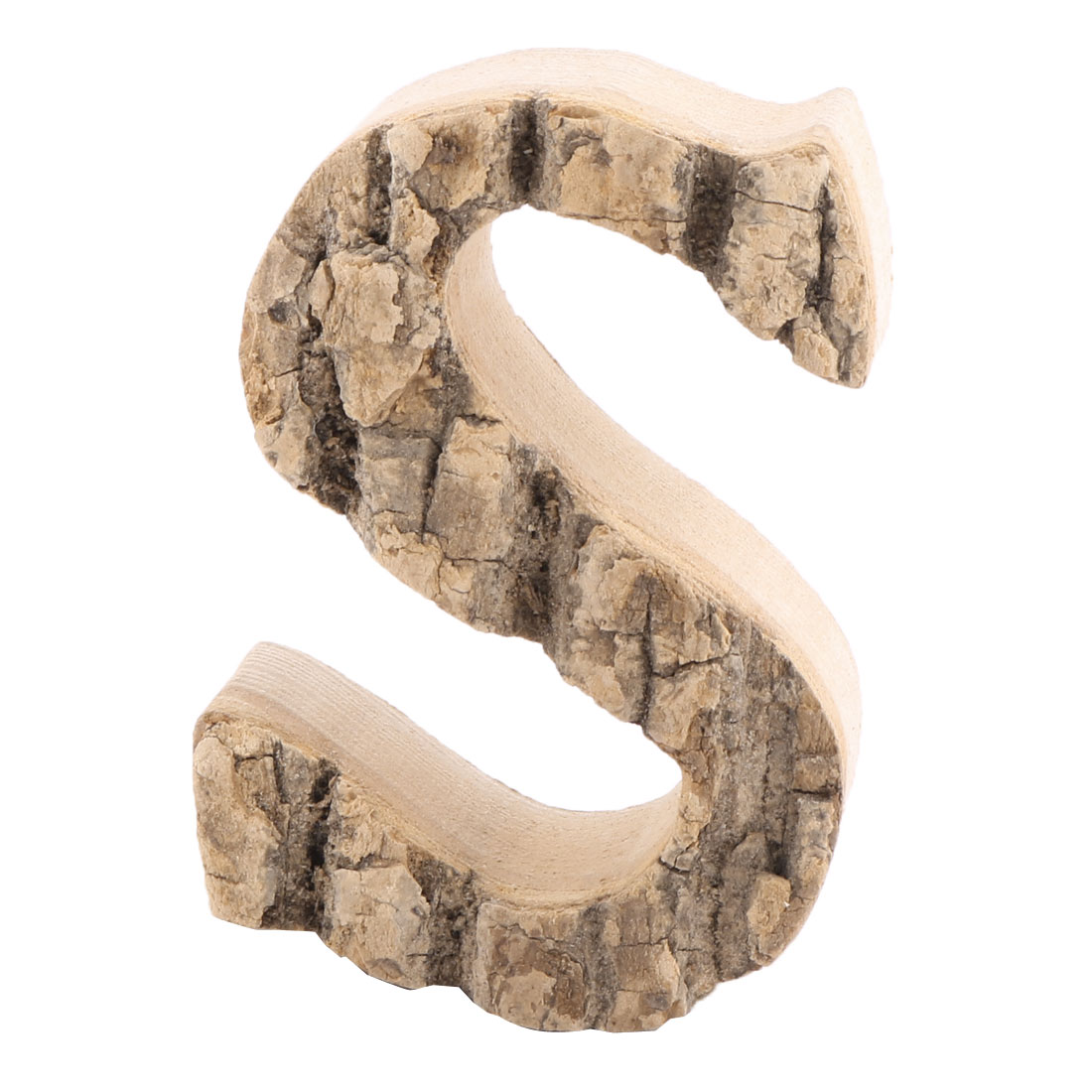 Family Street Wood S Shaped Retro Style Door Plate Letter Label Sign Wall Decor