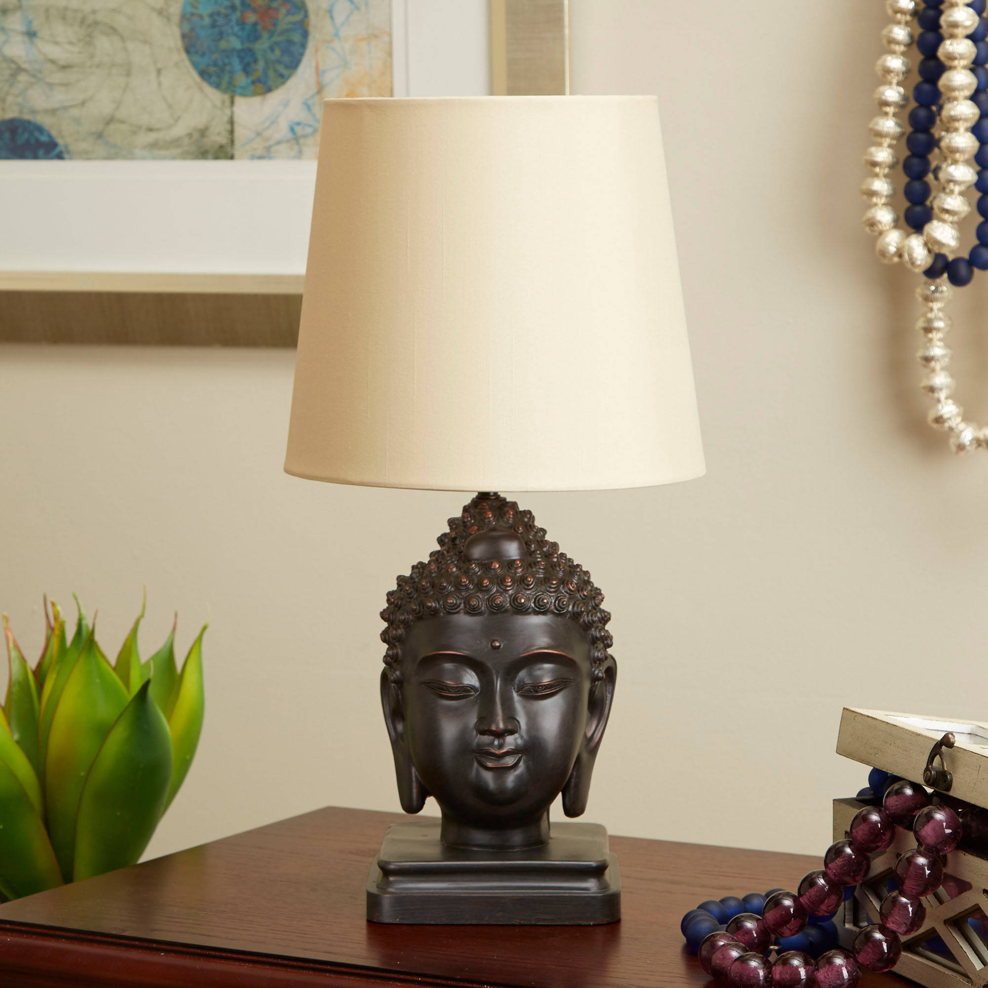 Better Homes and Gardens Buddha Bronze Lamp, Oil-Rubbed Bronze with CFL Bulb Included