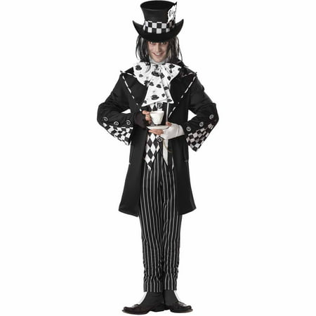 Dark Mad Hatter Adult Halloween Costume - Mad Hatter Tim Burton Costume