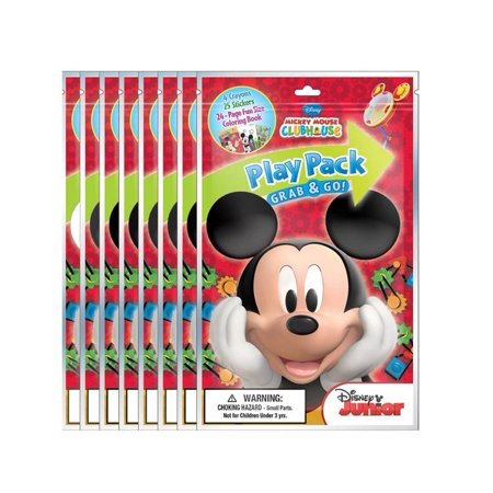 Unknown Bendon Disney Mickey Mouse Playback Grab and Go Fun Size Coloring Books - Novelty Character Arts and Crafts (Mickey Mouse Crafts)