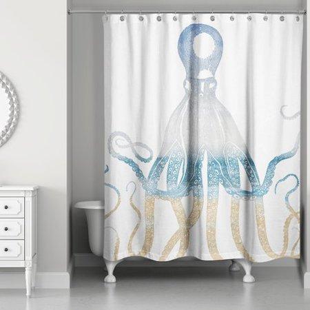 Brayden Studio Hann Vintage Octopus Shower Curtain