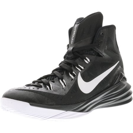 huge selection of bedbd 1df5c Nike Men s Hyperdunk 2014 Black   Metallic Silver-White Mid-Top Basketball  Shoe ...
