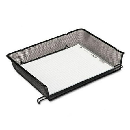 - Rolodex 62555 Nestable Mesh Stacking Side Load Letter Tray  Wire  Black