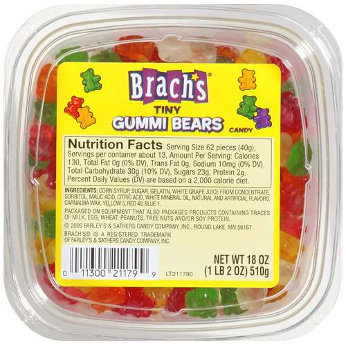 Brach's: Tiny Gummi Bears, 18 oz