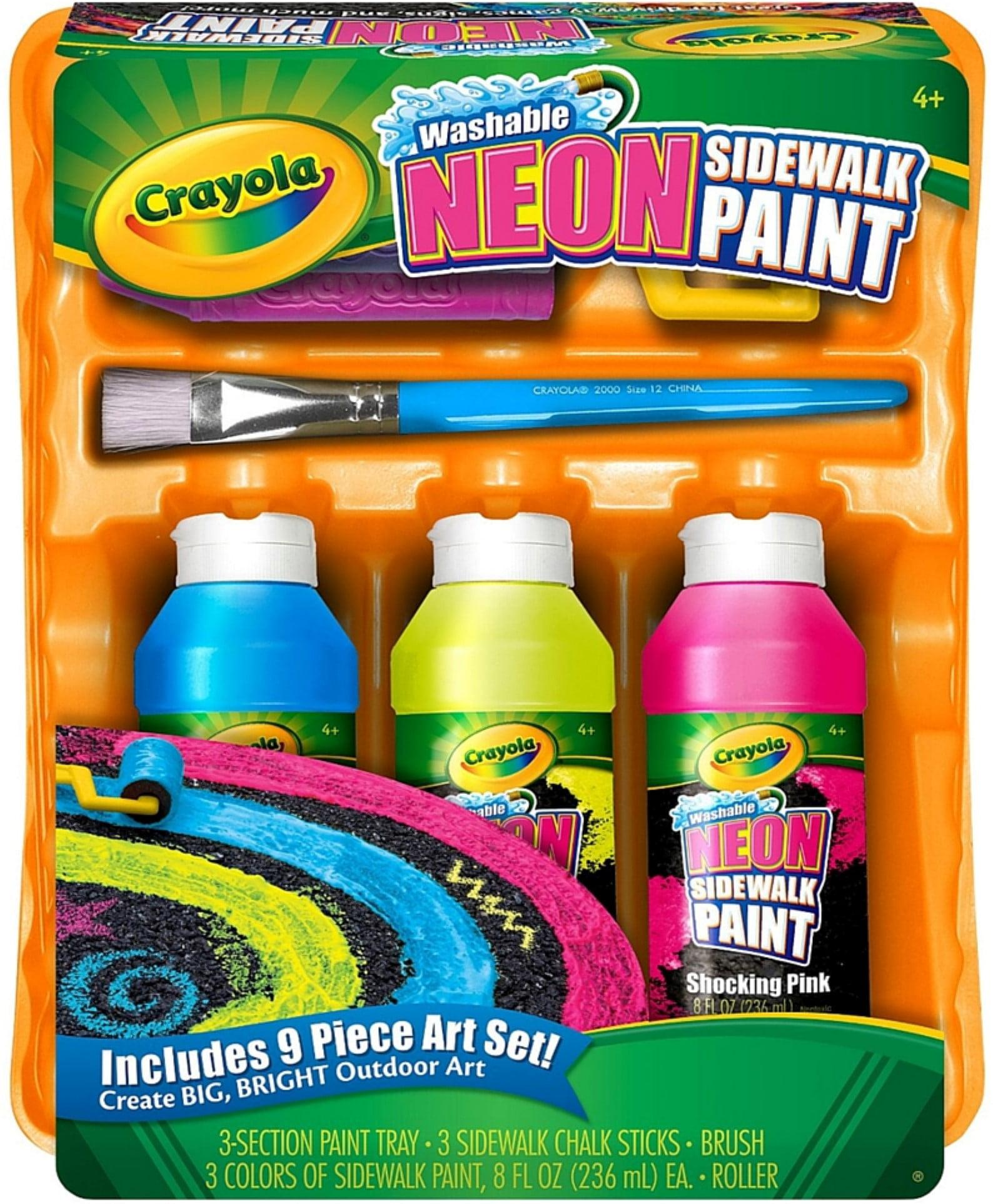 Crayola Neon Sidewalk Paint Tray Set by Crayola Markers