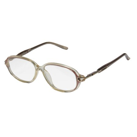 New D&a Ie149 Mina Womens/Ladies Designer Full-Rim Transparent Yellow / Gold / Multicolor Casual Affordable For Seniors Frame Demo Lenses 47-12-127 Spring Hinges Eyeglasses/Eye Glasses ()