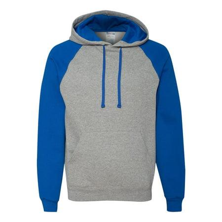 Jerzees Nublend Colorblocked Raglan Hooded Sweatshirt