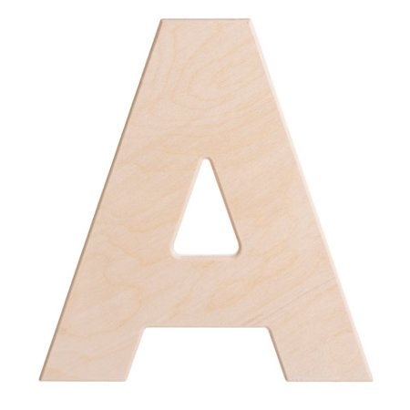 Large Unfinished Wood Letter: A - 12 - Artminds Wood