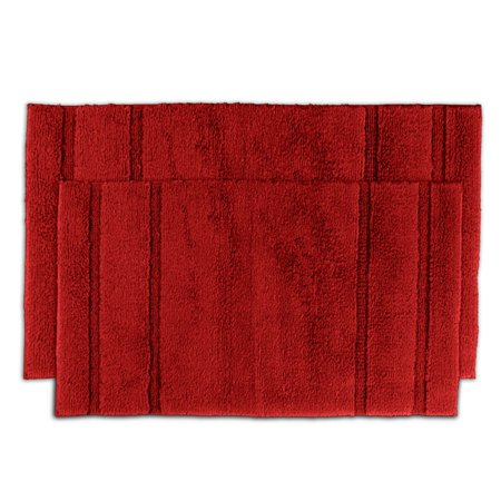 somette tranquility cotton chili pepper red 2 piece bath rug set. Black Bedroom Furniture Sets. Home Design Ideas