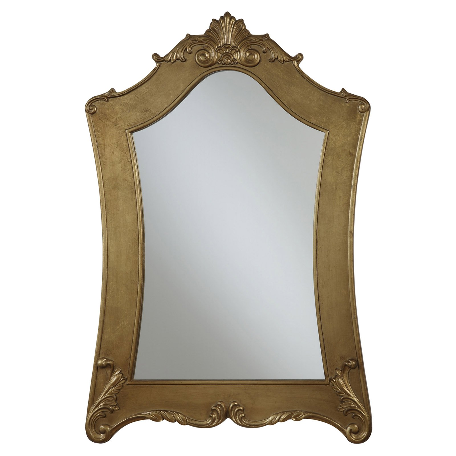 Convenience Concepts Gold Coast Victorian Gold Frame Mirror 33.5W x 48H in. by Overstock