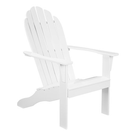 Mainstays Weather Resistant Rubberwood Adirondack Chair - White
