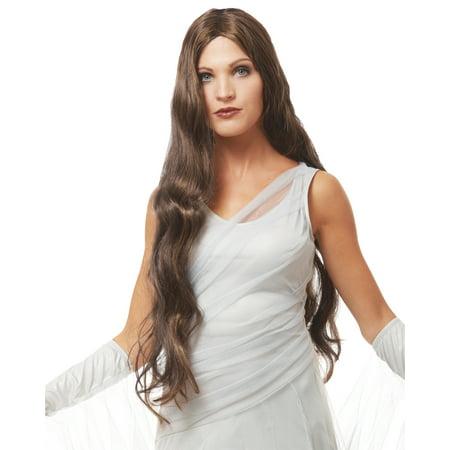 Atlantis Womens Adult Long Dark Brown Wavy Goddess Costume (Women's Wigs For Sale)