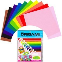 Aitoh Origami Paper, Ten Assorted Size, 100-Pack Multi-Colored