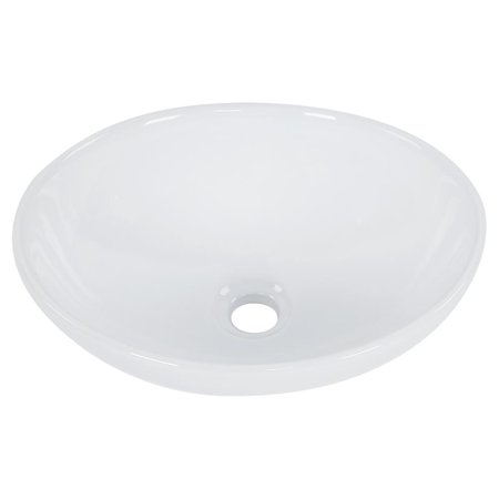LYUMO Bathroom Sink, Modern Oval Shape Bathroom Basin High-grade Cloakroom Hand Wash Basin White Elkay Hand Wash Sink
