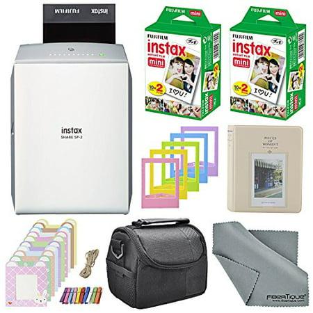 Fujifilm Instax Share Smartphone Printer Sp 2 W Silver   40 Sheets Instax Min