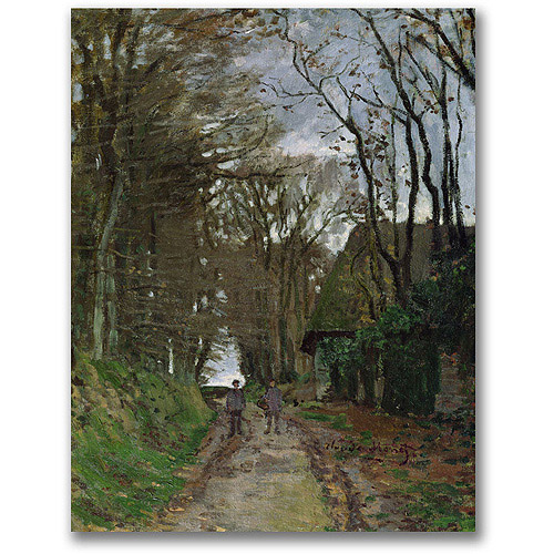 "Trademark Fine Art ""Path In Normandy"" Canvas Wall Art by Claude Monet"