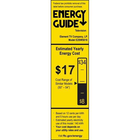 "ELEMENT 50"" Class FHD (1080P) Smart LED TV (E2SW5018) - Walmart com"