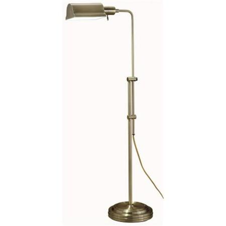 Normande lighting llc js3 729 antique brass floor lamp for Hyatt 6 light floor lamp brass
