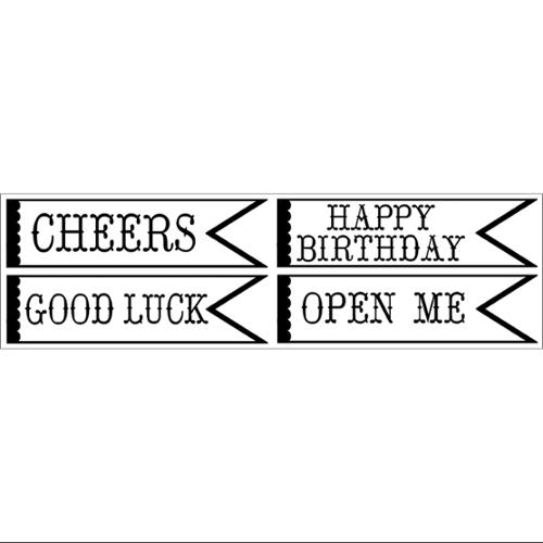 """Clearsnap Double-Sided Adhesive Stickers 2""""X7"""" Sheets 4/Pkg-Banner Wishes"""