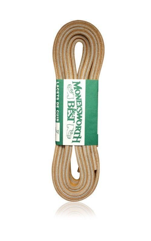 """Hiking Boot Lace ONE LACE ONLY Rawhide Leather Lace 72/"""" X 1//8/"""" Boat Shoelace"""