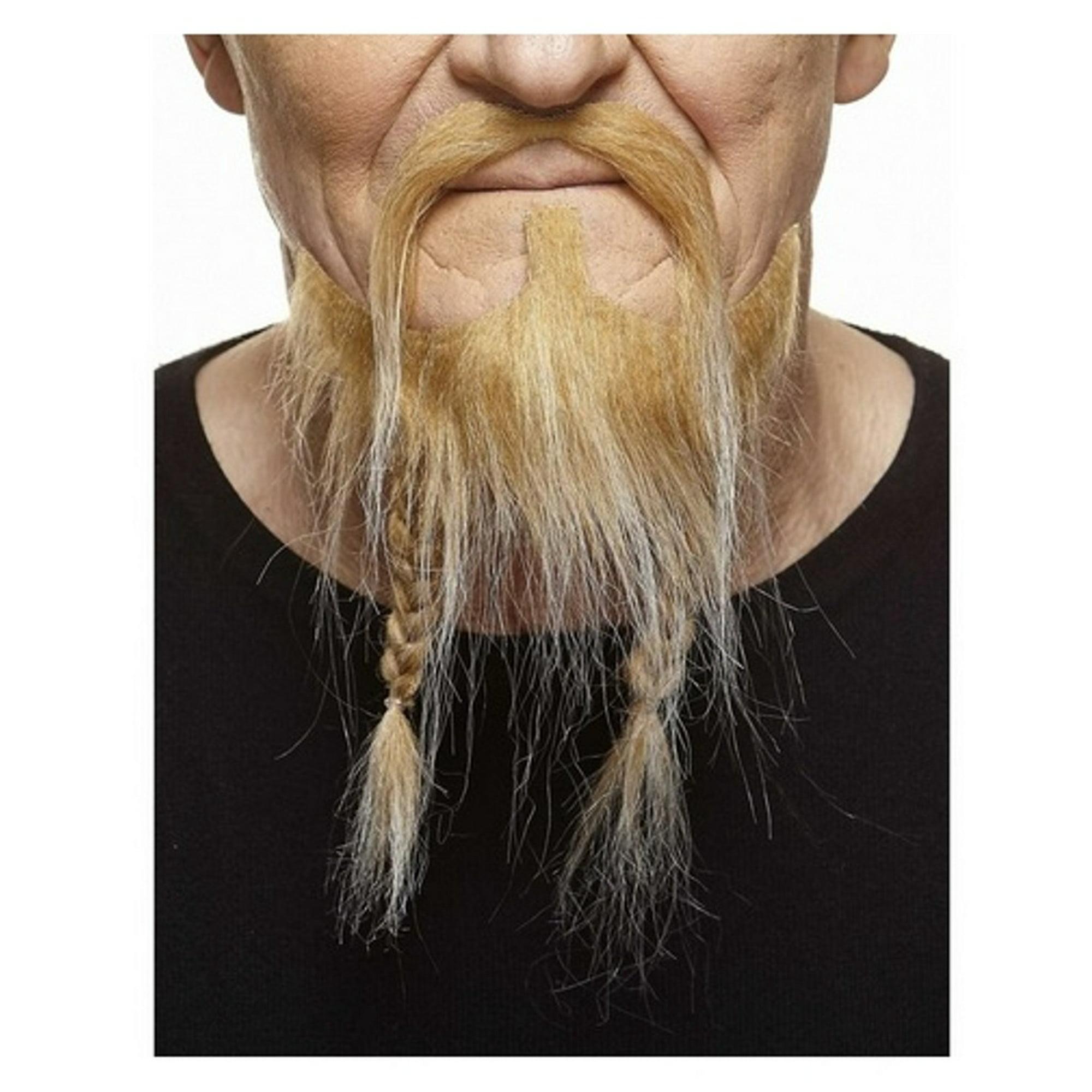 Blonde White Mustache Braided Beard Set 3m Viking Self Adhesive Facial Hair Mens Walmart Canada