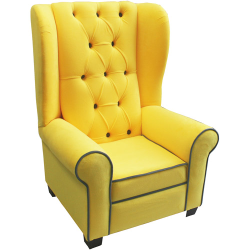 Newco Kids Mirage Chair - Yellow with Gray Accent