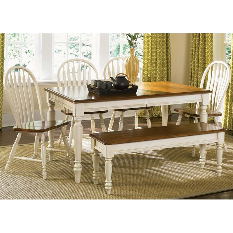 Liberty Furniture Low Country 6 Piece Dining Set in Linen Sand