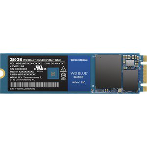 WD Blue SN500 WDS250G1B0C 250 GB Solid State Drive PCI Express PCI Express  3 0 x2 Internal M 2 2280 1 66 GB/s Maximum Read Transfer Rate 5 Year