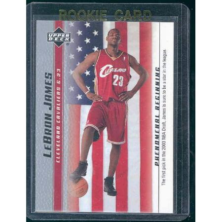 2003 Upper Deck Phenomenal Beginning #20 NBA 1st Pick Lebron James Rookie