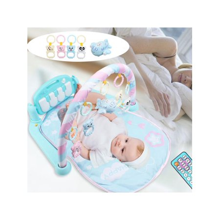 Ez Play Piano - Baby Play Mat Gym- 3 in1 Newborn Infant Baby Musical Piano Play Mat Blanket Kids Activity Carpet Rug