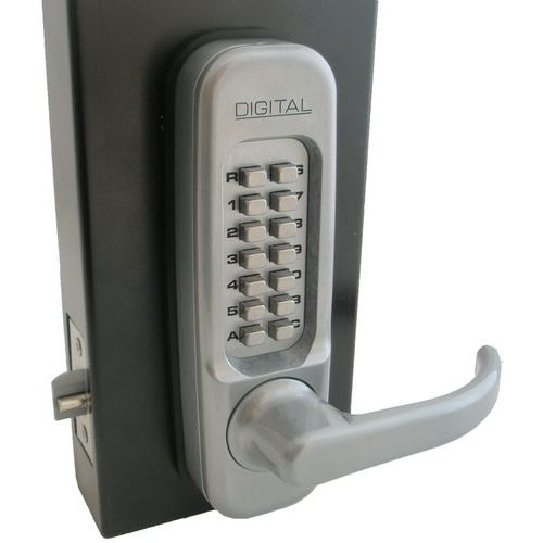 Lockey 1150L Left Handed Single Sided Mechanical and Passage Lever with a Deadlo