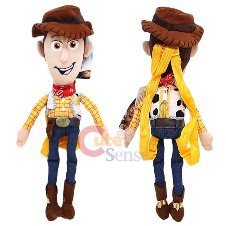 Disney Toy Story Woody Plush Doll Backpack Kids Custum Cowboy Bag