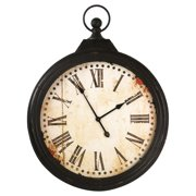 Zentique 27 in. Round Iron Wall Clock