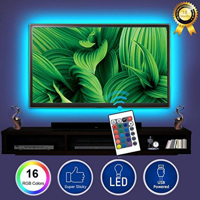 BESTHING TV Backlight, Bias Lighting Multi Color LED Stri...