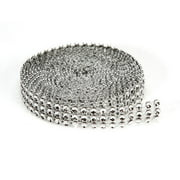 Bling 3Line Mesh Ribbon Silver 4Mmx3Yd Packaged