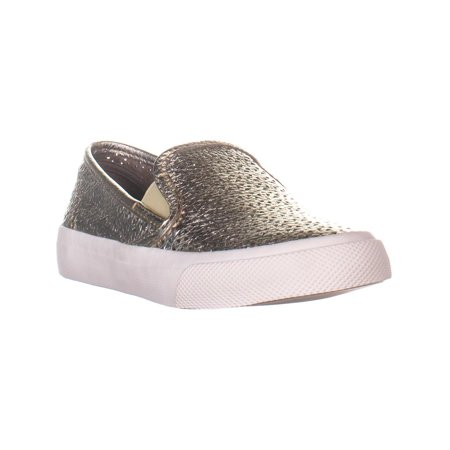 Sperry Top-Sider Seaside Perforated Slip On Fashion Sneakers, Platinum - image 6 of 6