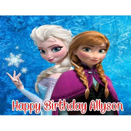 Disney Frozen Customized Edible Image Frosting Sheet Quarter Cake Topper