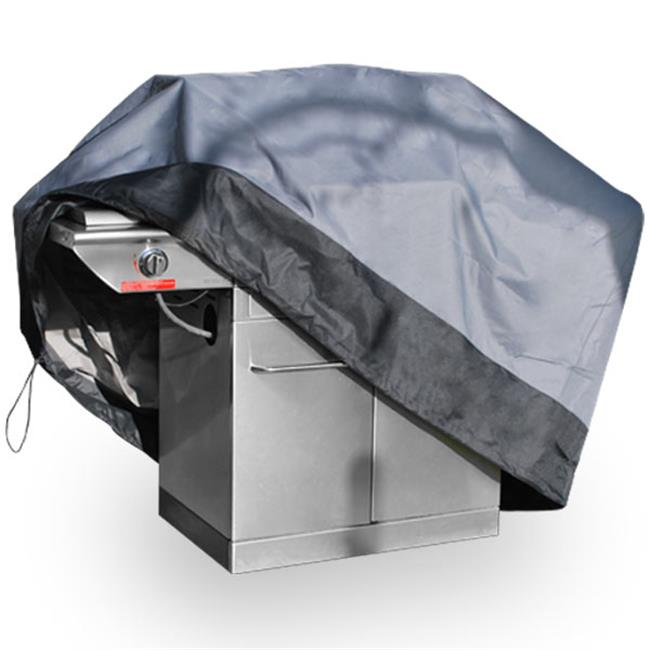 North East Harbor BBQ-M59-A 59 in. Premium Waterproof Barbeque Grill Cover, Dark Grey with Black Hem - Medium - image 3 of 3