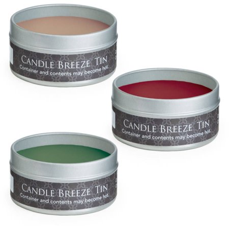 Candle Breeze Tin Multipack: Vanilla Cinnamon, Spiced Apple, Balsam Fir