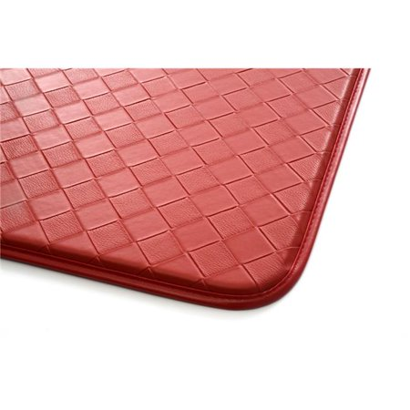 Stephan Roberts Home 2.5F-CAF13-04 18 x 30 in. Faux Leather Kitchen Anti-Fatigue Mat, Diamond Red