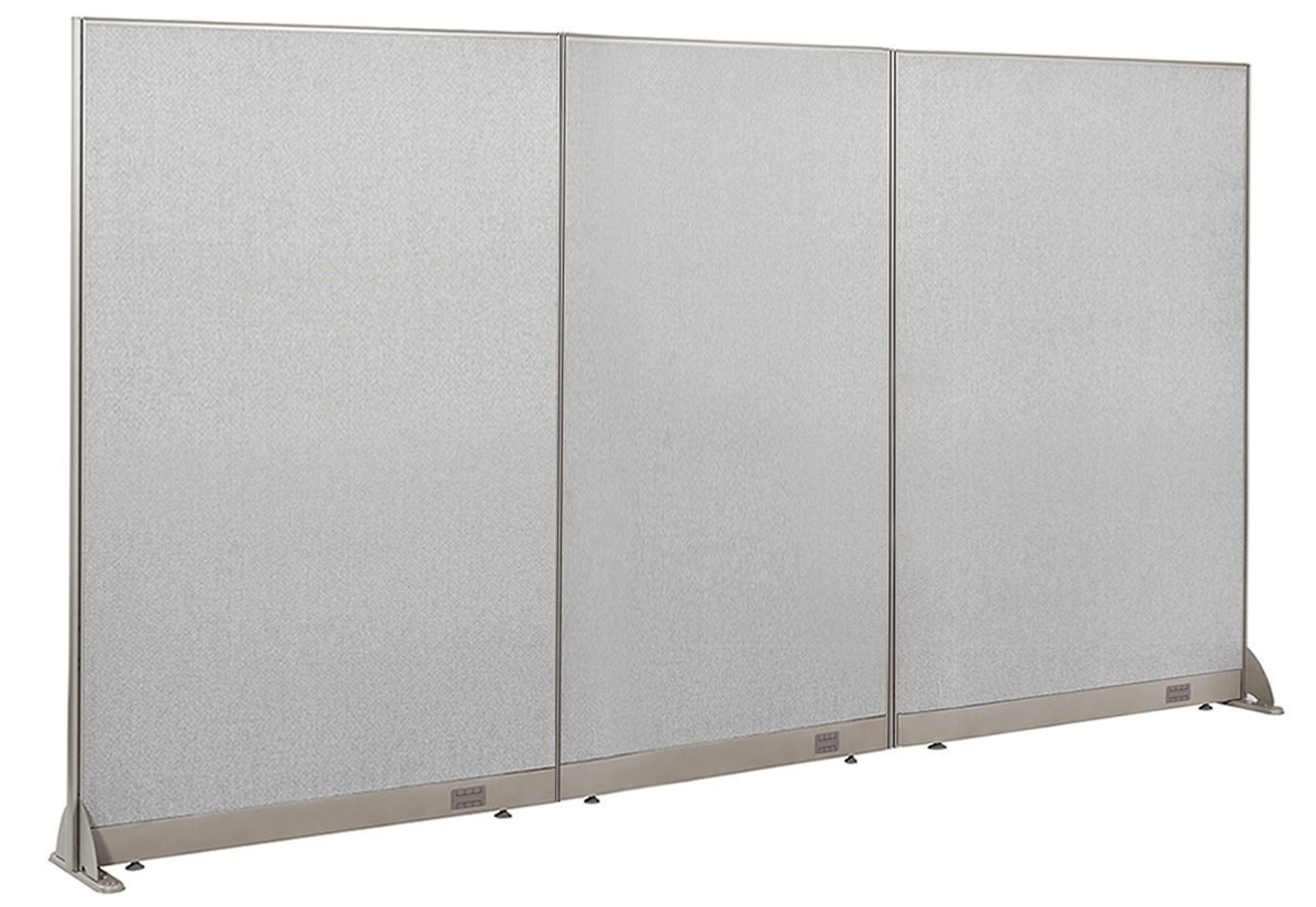 "120""W x 60""H Wall Mounted Office Partition by GOF"