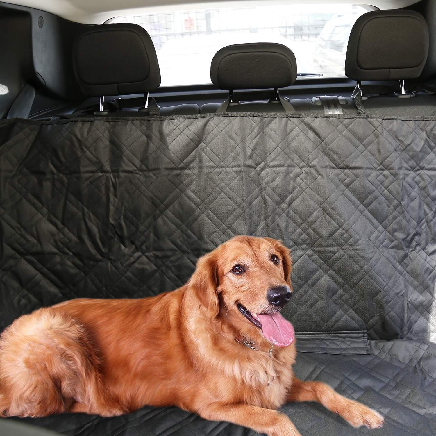 Car SUV Back Seat Cover for Pet Dogs Cats Large Hammock Bed HITC