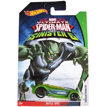 Hot Wheels Marvel Ultimate Spider-Man vs Sinister 6: Green Goblin - Battle Spec Spec 1 Wheels
