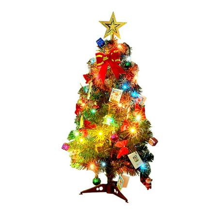 Mini Table Top Christmas Tree Decoration LED Decor Home Xmas Gift Party ()