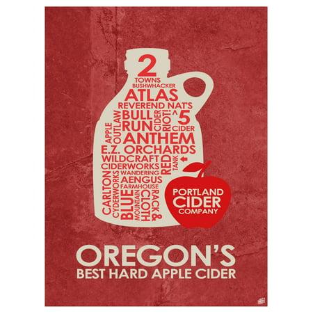 Oregon's Best Hard Apple Cider Word Art Print Poster (9