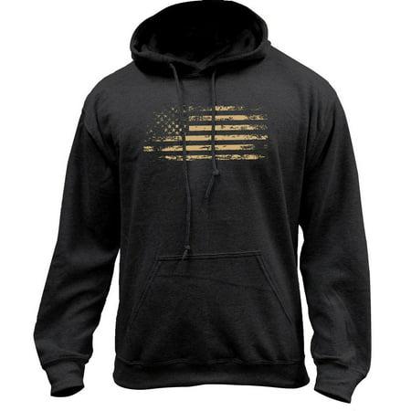 Distressed American Flag Pullover Hoodie Sweatshirt (Flag Kids Sweatshirt)