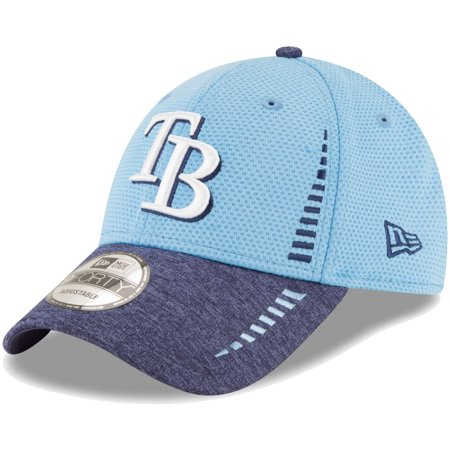 Tampa Bay Rays New Era Speed Tech 9FORTY Adjustable Hat - Light Blue/Heathered Navy - OSFA (Bday Hat)