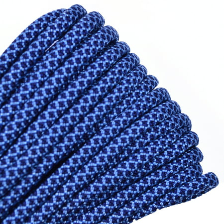 50 Feet High Quality Best Durability 550 lb Paracord - Tarheel Blue and Navy Diamonds Color - Bored Paracord Brand - Blue Paracord